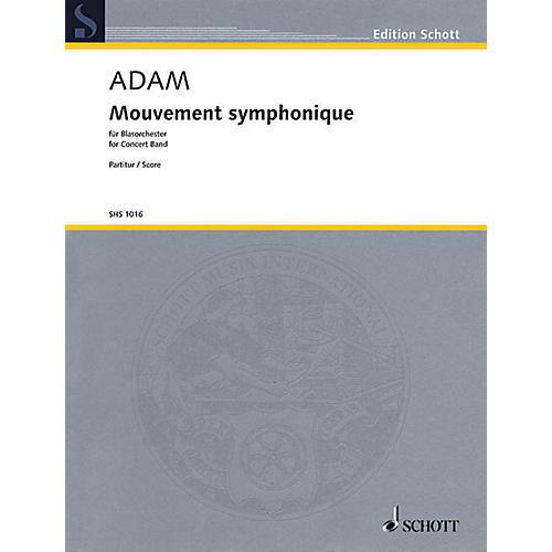 Schott Mouvement Symphonique (for Concert Band - Score) Concert Band Composed by Stephan Adam-thumbnail