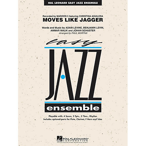 Hal Leonard Moves Like Jagger Jazz Band Level 2 by Maroon 5 Arranged by Paul Murtha-thumbnail