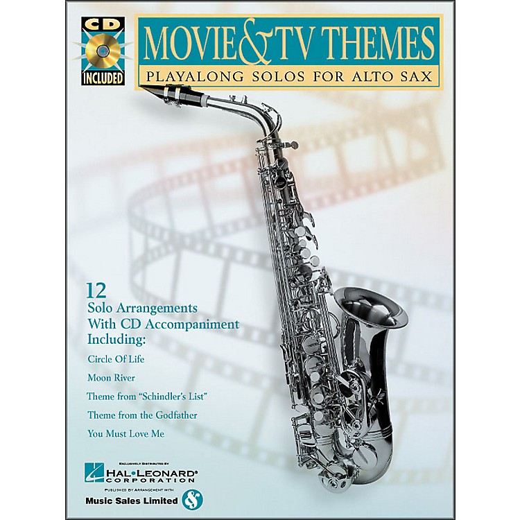 Hal LeonardMovie And TV Themes Playalong Solos for Alto Sax Book/CD