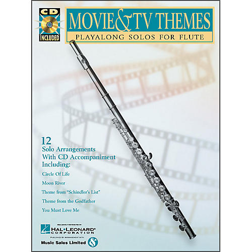 Hal Leonard Movie And TV Themes Playalong Solos for Flute Book/CD