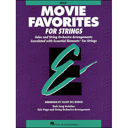 Hal Leonard Movie Favorites Cello Essential Elements
