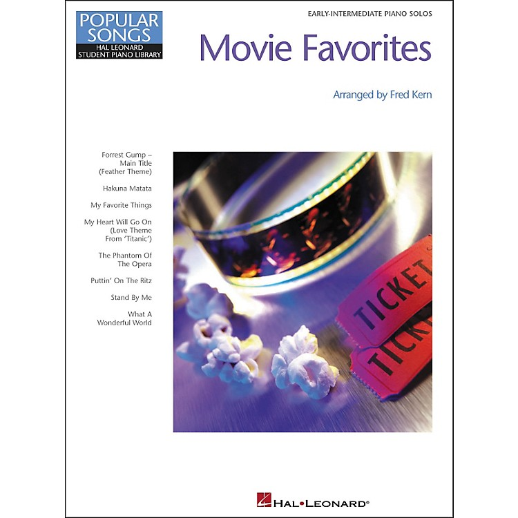 Hal Leonard Movie Favorites Early-Intermediate Piano Solos Popular Songs Hal Leonard Student Piano Library by Fred Kern