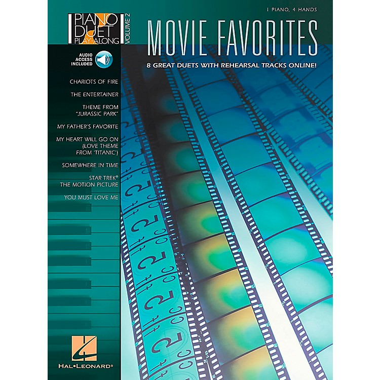Hal Leonard Movie Favorites Piano Duet Play-Along Volume 2 Book/CD