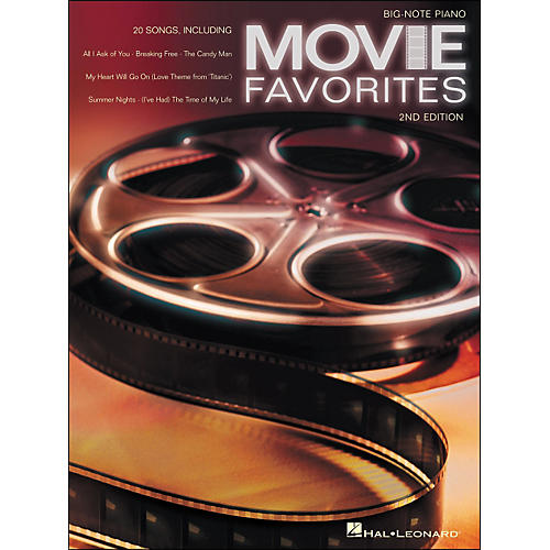 Hal Leonard Movie Favorites for Big Note Piano 2nd Edition