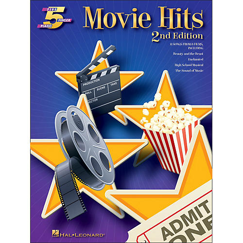 Hal Leonard Movie Hits for Five Finger Piano 2nd Edition-thumbnail