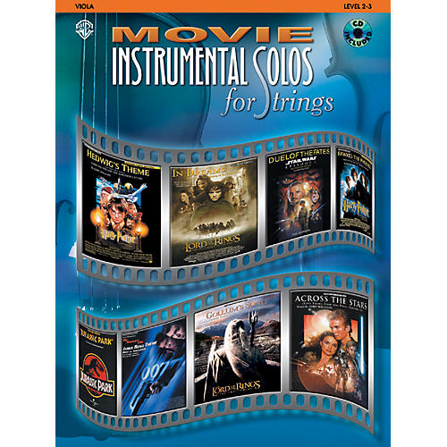 Alfred Movie Instrumental Solos for Strings Viola Book & CD