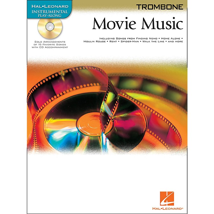 Hal Leonard Movie Music for Trombone Book/CD