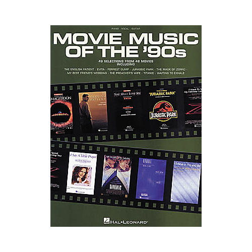 Hal Leonard Movie Music of the 90's Piano, Vocal, Guitar Songbook-thumbnail
