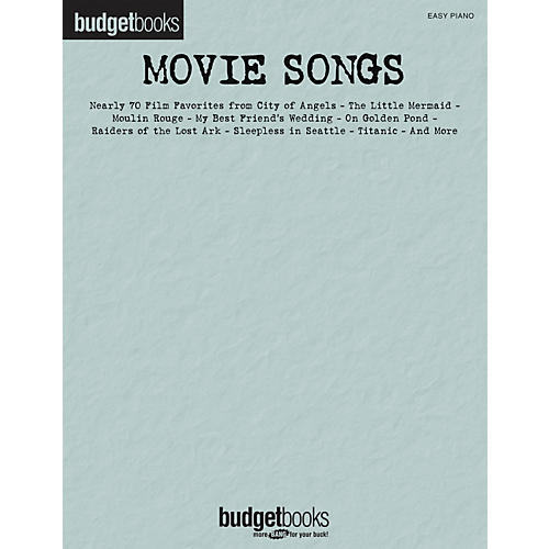 Hal Leonard Movie Songs - Budget Book Series For Easy Piano