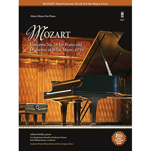 Music Minus One Mozart - Concerto No. 18 for Piano and Orchestra in B-flat Major, KV456 Music Minus One Softcover with CD-thumbnail