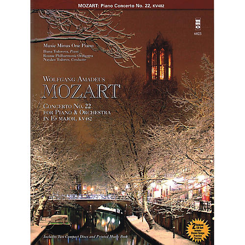 Music Minus One Mozart - Concerto No. 22 in E-flat Major, KV482 Music Minus One Series Softcover with CD-thumbnail