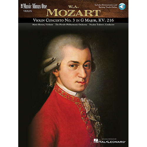 Music Minus One Mozart - Violin Concerto No. 3 in G Major, KV216 Music Minus One Series Softcover Audio Online-thumbnail