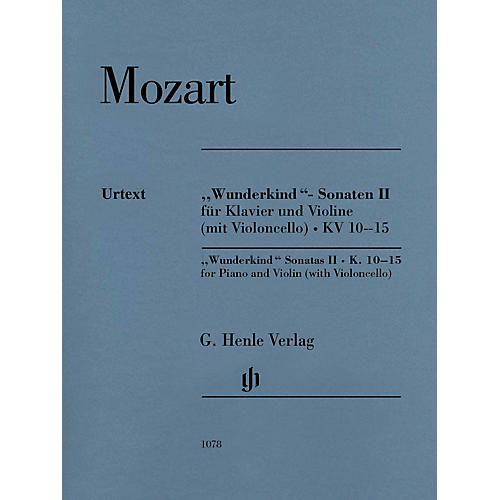 G. Henle Verlag Mozart - Wunderkind Sonatas, Vol 2, K. 10-15 Henle Music by Mozart Edited by Wolf-Dieter Seiffert-thumbnail