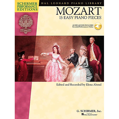 Hal Leonard Mozart: 15 Easy Piano Pieces - Schirmer Performance Edition Book/CD By Mozart / Abend-thumbnail