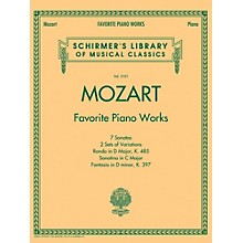 G. Schirmer Mozart  Favorite Piano Works Schirmer's Library of Musical Classics Vol. 2101