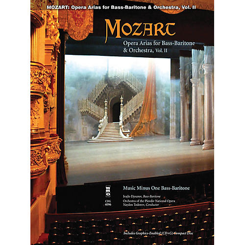 Music Minus One Mozart Opera Arias for Bass Baritone and Orchestra - Vol. II Music Minus One Softcover with CD by Mozart-thumbnail