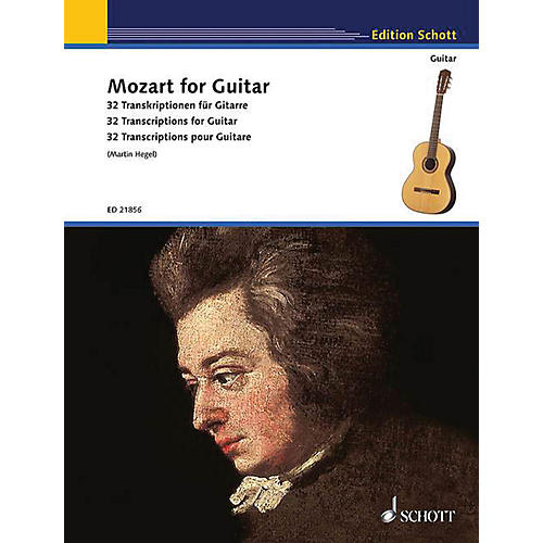 Schott Mozart for Guitar (32 Transcriptions for Guitar) Guitar Series Softcover-thumbnail
