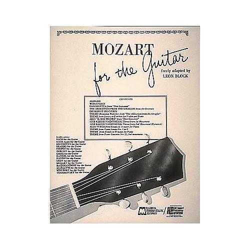 Edward B. Marks Music Company Mozart for Guitar Book