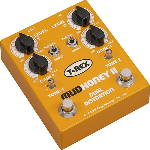 T-Rex Engineering Mudhoney II Distortion Guitar Effects Pedal Yellow