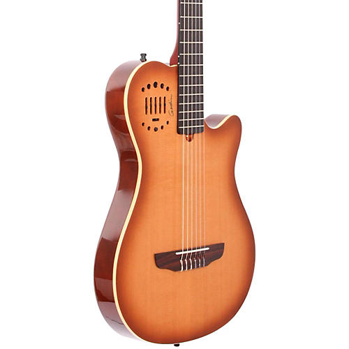 Godin Multiac Grand Concert Duet Ambiance Nylon String Acoustic-Electric Guitar High Gloss Lightburst