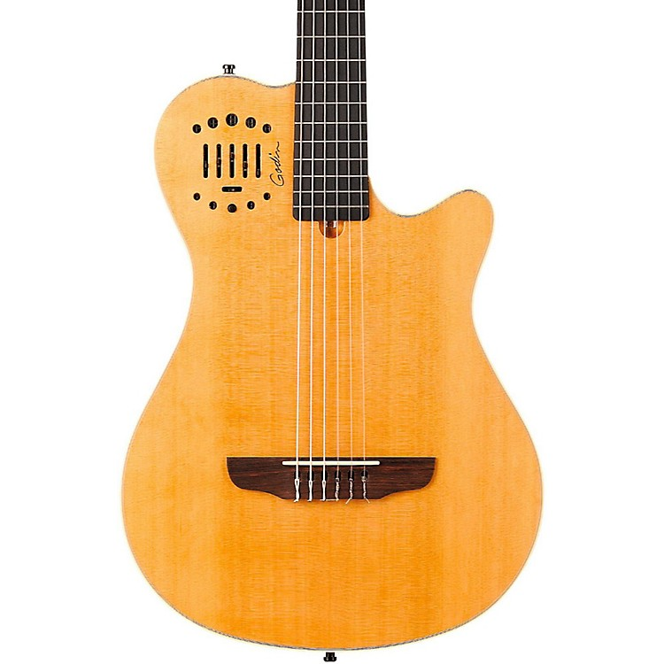 Godin Multiac Grand Concert Duet Ambiance Nylon String Acoustic-Electric Guitar Natural High-Gloss