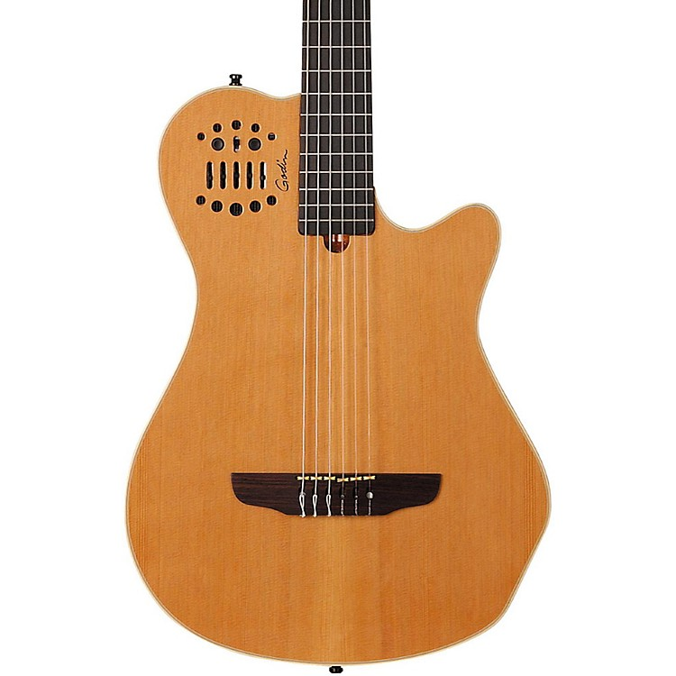 Godin Multiac Grand Concert SA Nylon String Electric Guitar Natural High Gloss