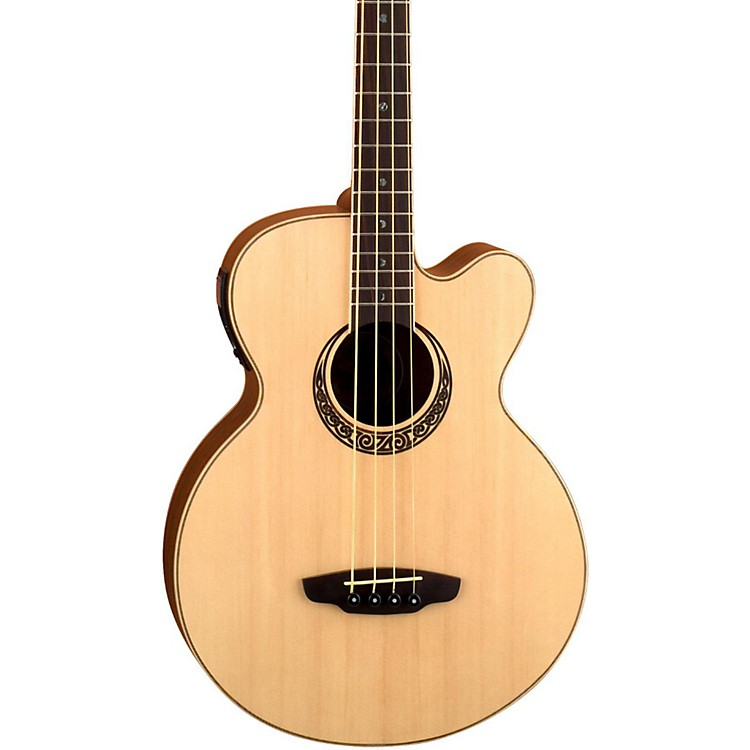 Luna Guitars Muse Acoustic-Electric Bass Guitar Satin Natural