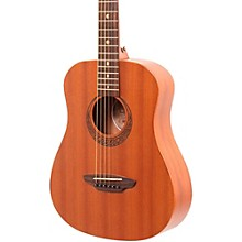Open Box Luna Guitars Muse Safari Series Mahogany 3/4 Dreadnought Travel Acoustic Guitar