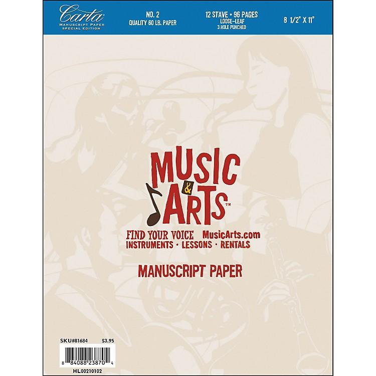 Hal LeonardMusic & Arts Carta Manuscript Paper Pad # 2