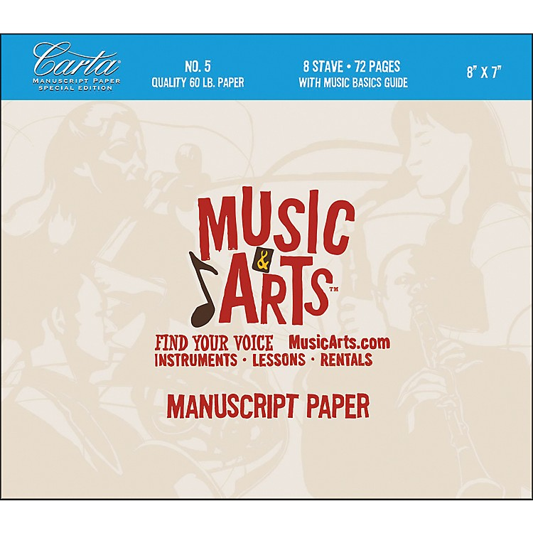 Hal LeonardMusic & Arts Carta Manuscript Paper Pad # 5