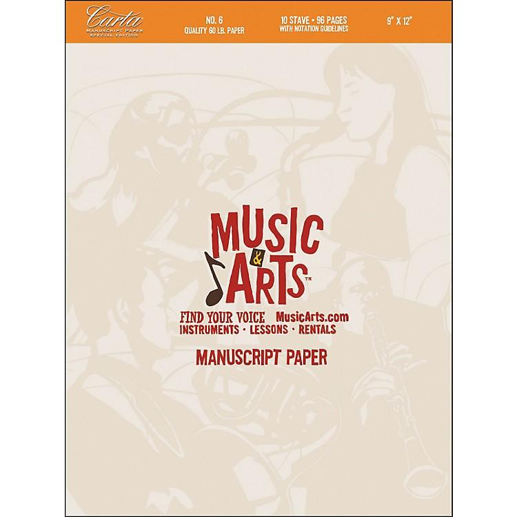 Hal LeonardMusic & Arts Carta Manuscript Paper Pad # 6