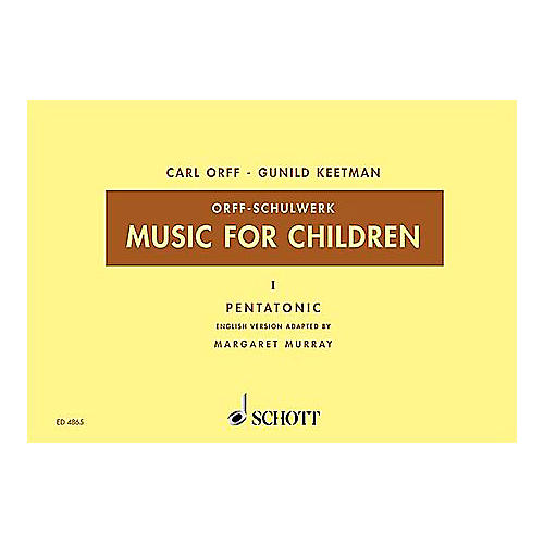 Schott Music For Children Vol. 5 Minor - Dominant and Subdominant Triads by Carl Orff arr by Keetman/Murray