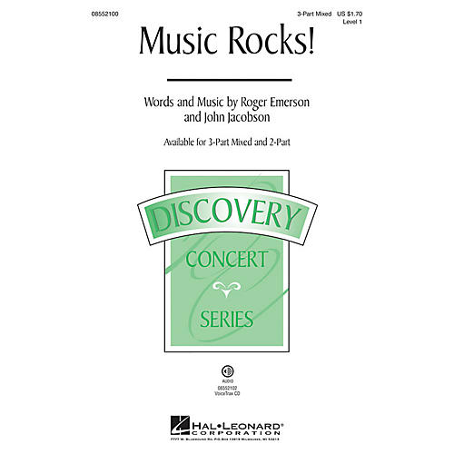 Hal Leonard Music Rocks! (Discovery Level 1) 2-Part Composed by Roger Emerson-thumbnail