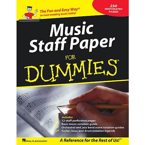 Hal Leonard Music Staff Paper For Dummies-thumbnail
