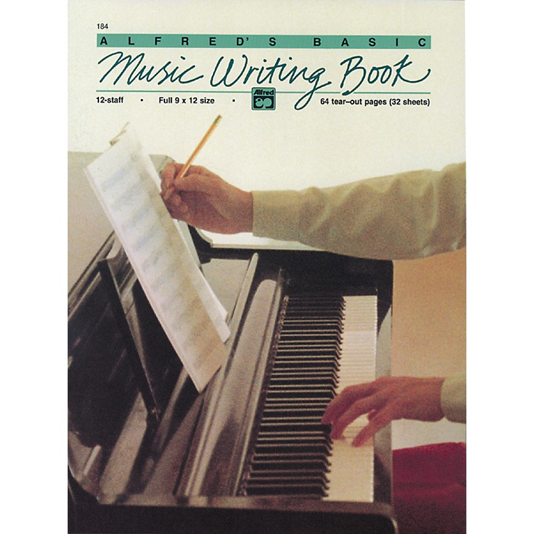 AlfredMusic Writing Book (9 x 12) 12-Stave
