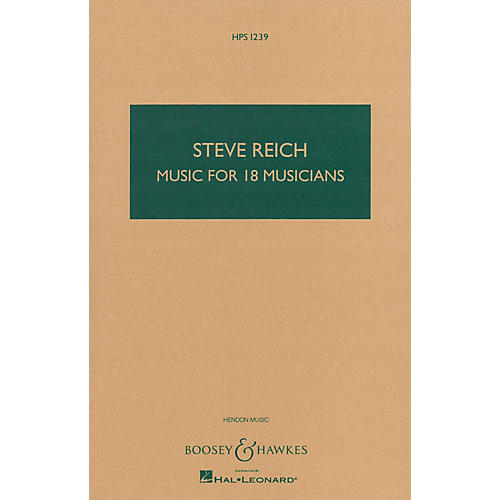 Boosey and Hawkes Music for 18 Musicians (Study Score) Boosey & Hawkes Scores/Books Series Composed by Steve Reich-thumbnail