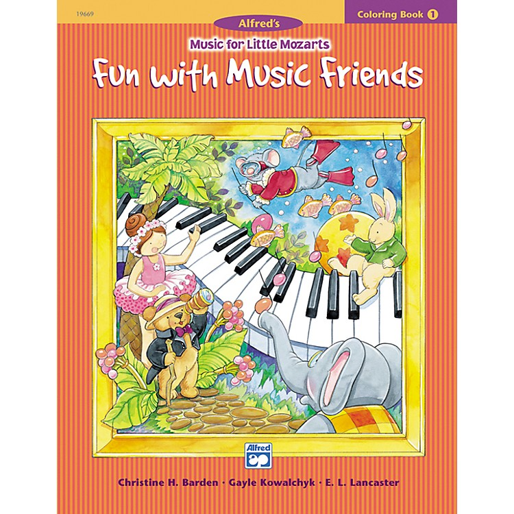 AlfredMusic for Little Mozarts Coloring Book 1 -- Fun with Music Friends