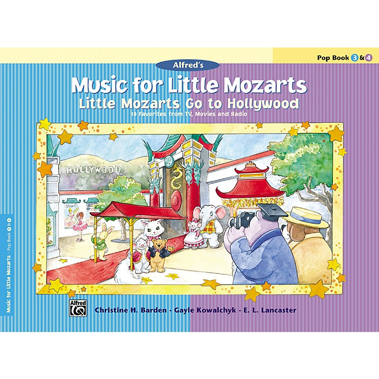 AlfredMusic for Little Mozarts: Little Mozarts Go to Hollywood Pop Book 3 & 4