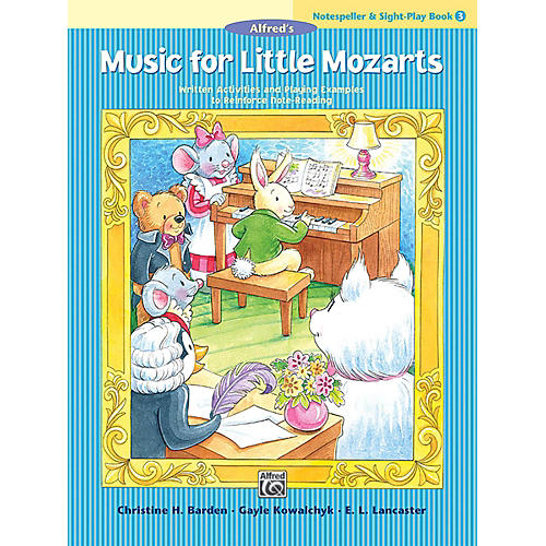 Alfred Music for Little Mozarts: Notespeller & Sight-Play Book 3 Early Elementary-thumbnail