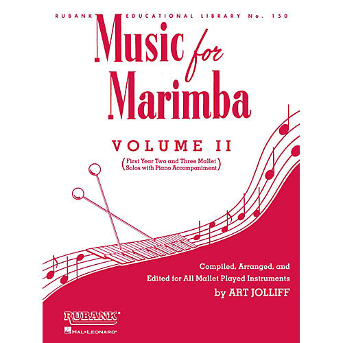 Rubank Publications Music for Marimba - Volume II Rubank Solo Collection Series Softcover-thumbnail