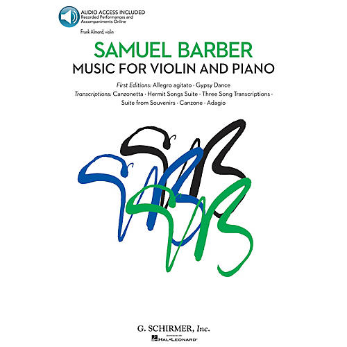 G. Schirmer Music for Violin and Piano String Solo Series Softcover Audio Online Performed by Frank Almond-thumbnail