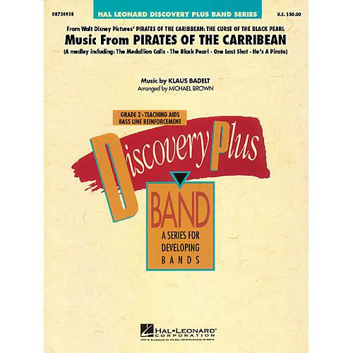 Hal Leonard Music from Pirates of the Caribbean - Discovery Plus Band Series Level 2 arranged by Michael Brown