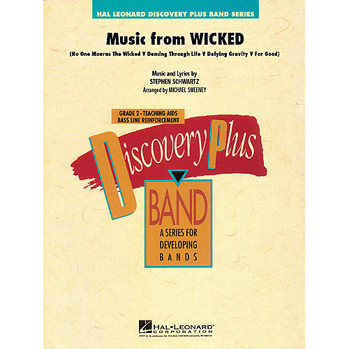 Hal Leonard Music from Wicked - Discovery Plus Concert Band Series Level 2 arranged by Michael Sweeney-thumbnail