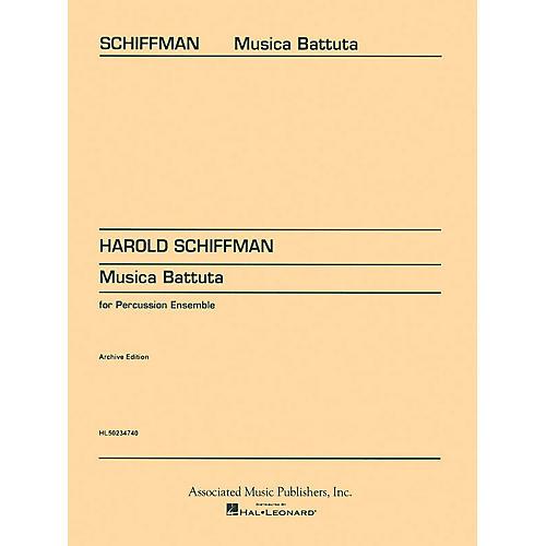 Associated Musica Battuta (Score and Parts) Percussion Series Composed by Harold Schiffman