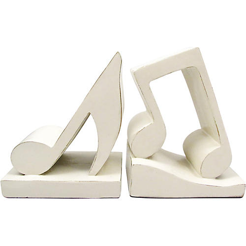 AIM Musical Note Bookends (Antique White)