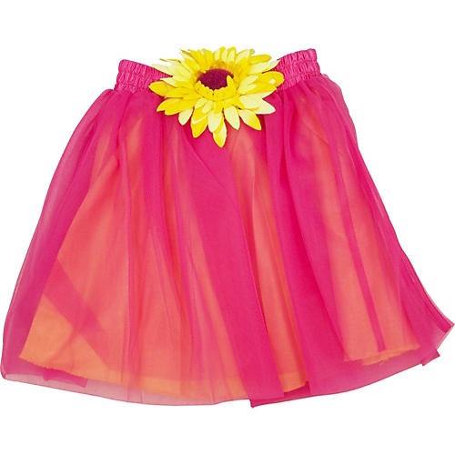 Acting Out Musical Sunshine Skirt in Hot Pink-thumbnail