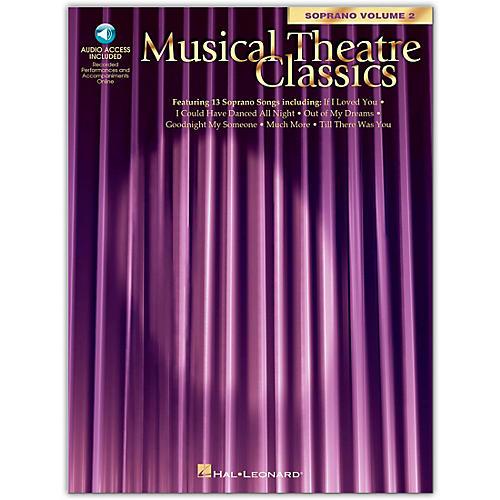 Hal Leonard Musical Theatre Classics for Soprano Voice Vol 2 Book/CD Pkg