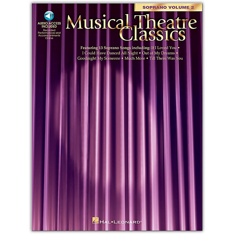 Hal Leonard Musical Theatre Classics for Soprano Voice Vol 2 Book/CD Pkg