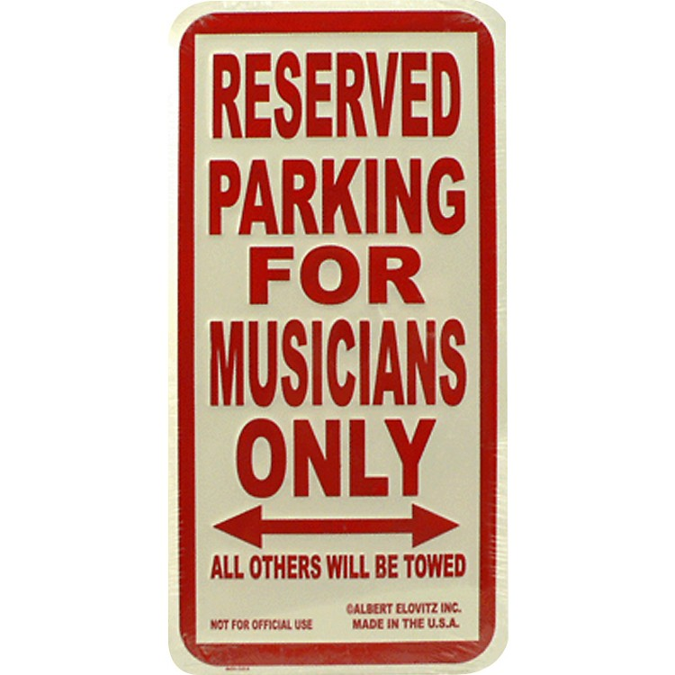 AIM Musicians Only Metal Sign