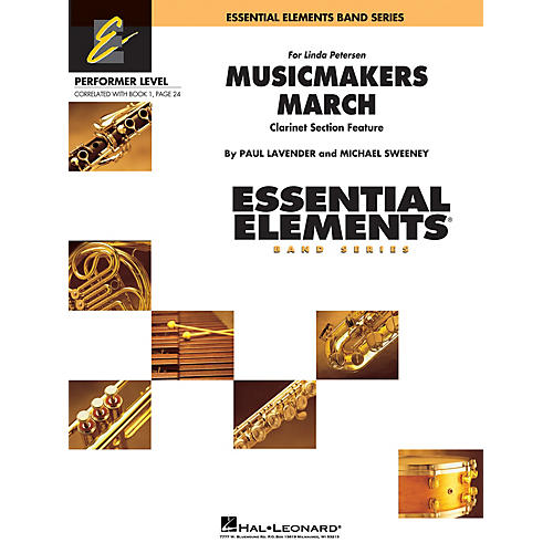 Hal Leonard Musicmakers March (Includes Full Performance CD) Concert Band Level .5 to 1 Composed by Michael Sweeney-thumbnail